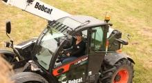 Телескопический погрузчик для сельского хозяйства Bobcat TL38.70HF+AGRI вид сверху