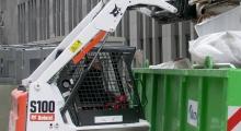 Колесный мини погрузчик Bobcat S100 в деле