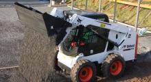 Колесный мини погрузчик Bobcat S510 в деле