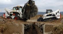 Колесные мини погрузчики Bobcat S850 в работе