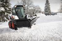 V-образный снегоуборочный отвал Bobcat для мини погрузчиков