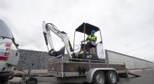 Мини экскаватор Bobcat E17 перевозка