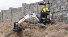 Мини экскаватор Bobcat E17z копает