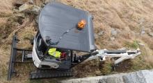 Мини экскаватор Bobcat E17z вид сверху