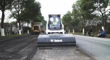 Колесный мини погрузчик Earthforce S18 работает