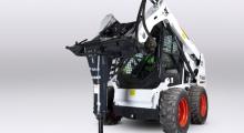 Колесный мини погрузчик Bobcat S510 вид спереди