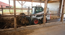 Колесный мини погрузчик Bobcat S590 в сельском хозяйстве