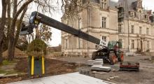 Телескопический погрузчик Bobcat T41.140SLP работает