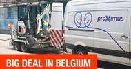 Мини экскаваторы Bobcat помогают проложить оптоволоконную сеть в Бельгии