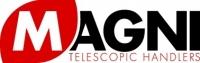 Логотип компании Magni - современные телескопические погрузчики с поворотной платформой